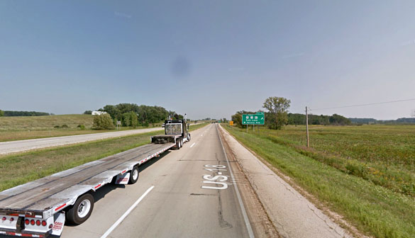 The object remained hovering during the entire sighting. Pictured: Verona, WI. (Credit: Google)