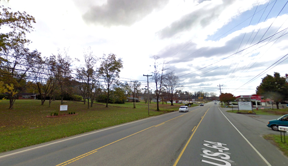 The witness said that the rectangular-shaped object was larger than his apartment complex. Pictured: Jasper, TN. (Credit: Google)