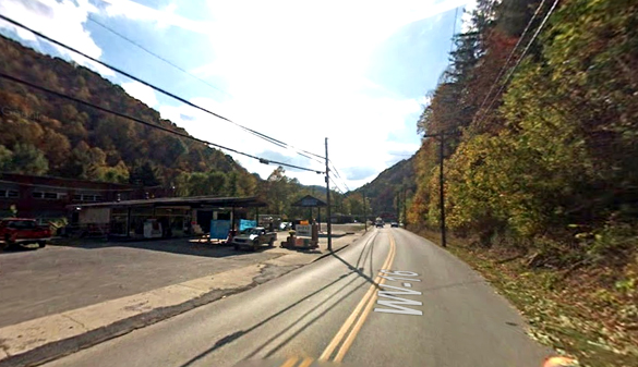 The object was described as disc-shaped and the size of a grapefruit. Pictured: Mullens, WV. (Credit: Google)