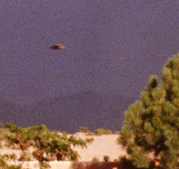 Cropped and enlarged version of the witness photo. (Credit: MUFON)