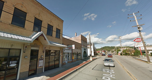 The object seemed to change shape. Pictured: Rochester, PA. (Credit: Google)