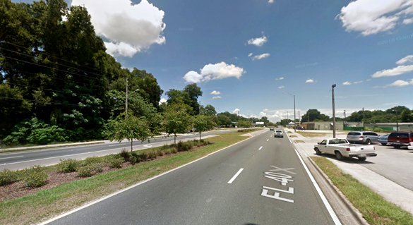 The object hovered and moved over a 40-minute period. Pictured: Ocala, FL. (Credit: Google)