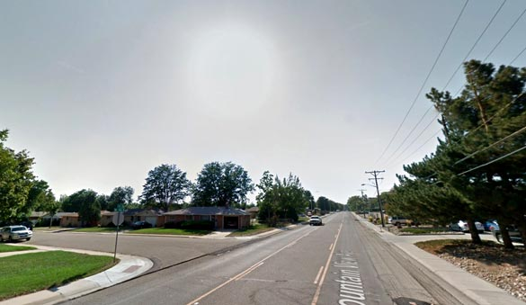 The witness was able to see the object close enough to provide a detailed description. Pictured: Longmont, CO. (Credit: Google)