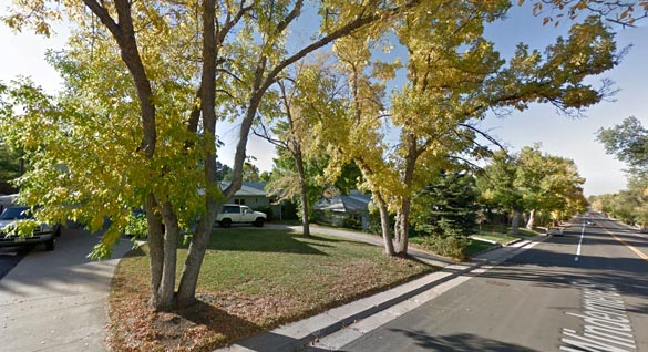 The object was seen at over 500 feet with no clouds at the time. Pictured: Littleton, CO. (Credit: Google)
