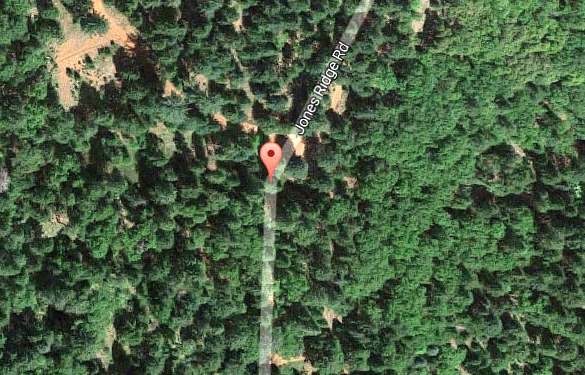 The witness had car trouble along a rural roadway and found that the sounds of nature had stopped. (Credit: Google)