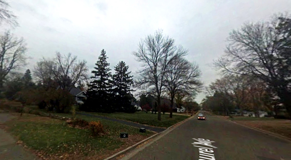 The two triangle UFOs both hovered and moved at incredible speeds. Pictured: Hudson, Wisconsin. (Credit: Google)