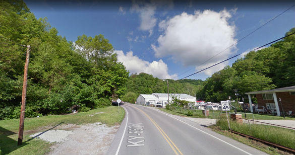 The object was moving under the cloud cover. Pictured: Hindman, Kentucky. (Credit: Google)