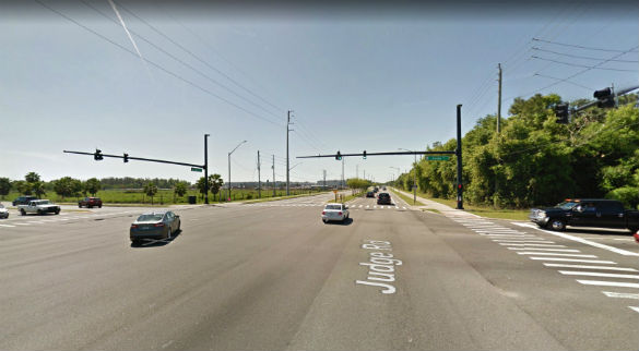 The witness could hear so sound coming from the object. Pictured: Conway Road near the Judge Road intersection. (Credit: Google)