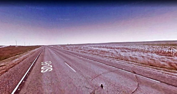 The object was lit white with no blinking lights. Pictured: Highway 65 near Highway 212. (Credit: Google)