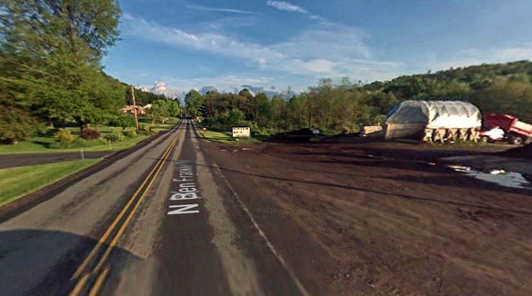 The woman looked out her window during the night and saw the UFO had landed near her home in Indiana, Pennsylvania. Pictured: Indiana, Pennsylvania. (Credit: Google)