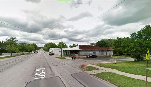 The object was moving east and apparently not making any sound when it was observed by the witness on September 8, 2015. Pictured: Lawrence, KS. (Credit: Google)