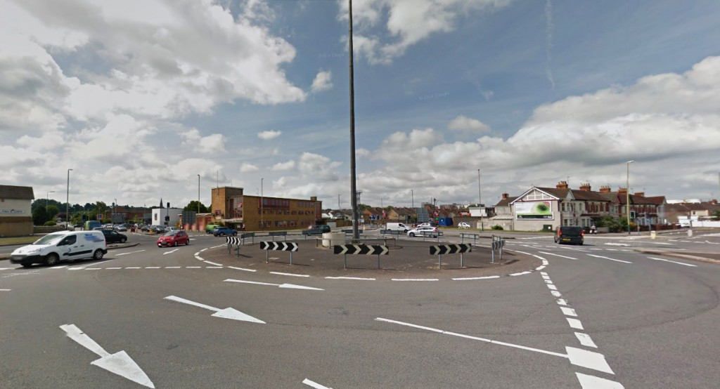 The object moved very slowly away. Pictured: Magic Roundabout Intersection near Drove Road. (Credit: Google)