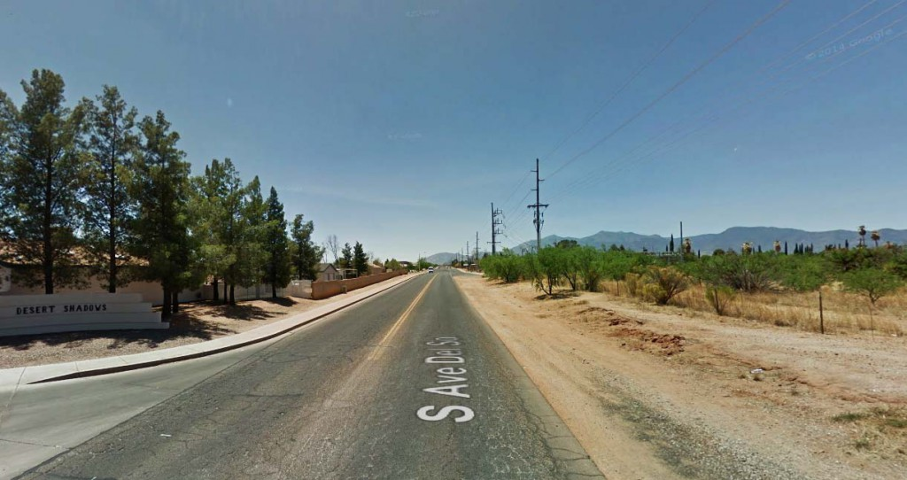 In the morning, they noticed that the object was gone and could not understand how something had gotten into the fenced-in field and out again by morning. Pictured: Sierra Vista, Arizona. (Credit: Google)