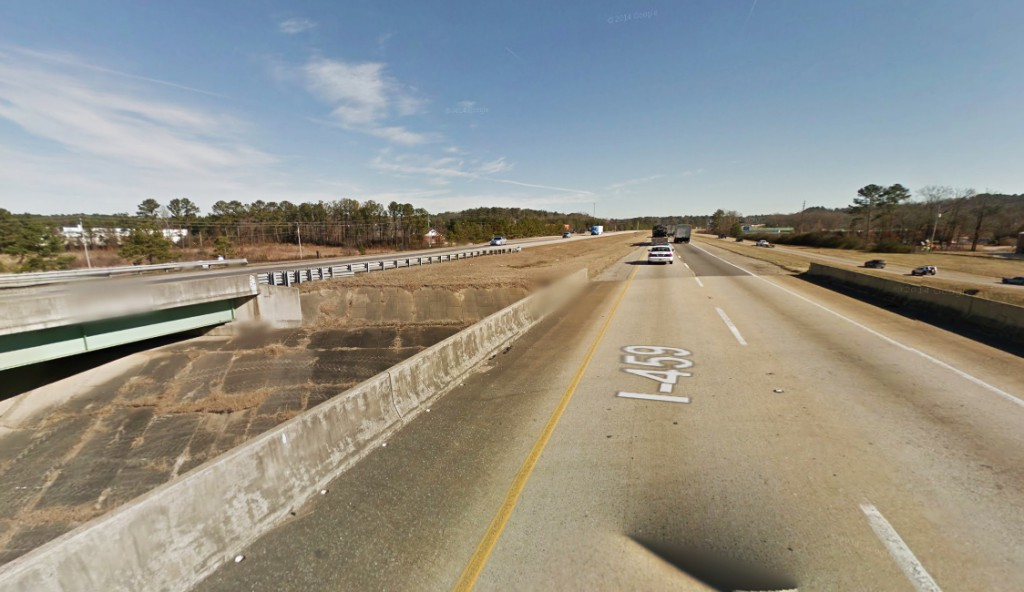 The witness could not stop with the heavy traffic, but assumes many others had to have seen the hovering object. Pictured: I-459 near the Morgan Road exit. (Credit: Google)