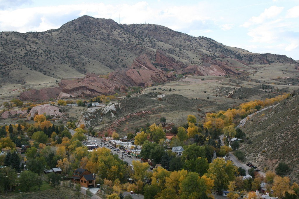 The object was observed for several minutes before finally vanishing. Pictured: The town of Morrison with Red Rocks Amphitheatre in the background. (Credit: Wikimedia Commons)