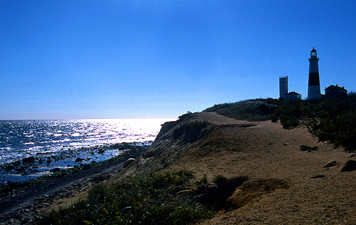 The witness also recalls seeing an orb the size of a baseball in his home three days earlier and wonders if the two events are connected. Pictured: The Montauk Lighthouse is a landmark of Suffolk County, NY. (Credit: Wikimedia Commons)