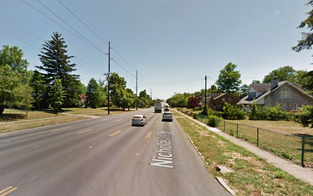 The object seen over their Lexington, Kentucky, home made no noise. . Pictured: Street scene in Lexington. (Credit: Google)