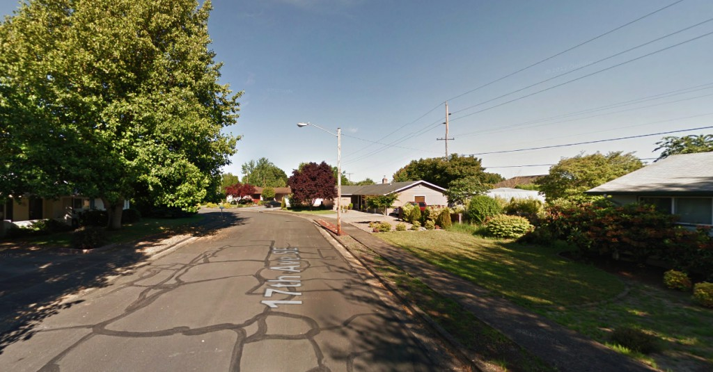 As the object moved away, it looked like it traveled miles in just a couple of seconds. Pictured: Albany, OR. (Credit: Google)