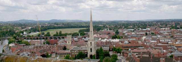 The second object was about 100 yards away and hovering about 20 feet in the sky Pictured: Worcester skyline. (Credit: Wikimedia Commons)