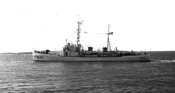 United States Coast Guard Cutter Ariadne, based in St. Petersburg, Florida, on patrol in the Florida Straits, autumn 1965, is an example of the type of ship the sailor may have been on. (Credit: Wikimedia Commons)