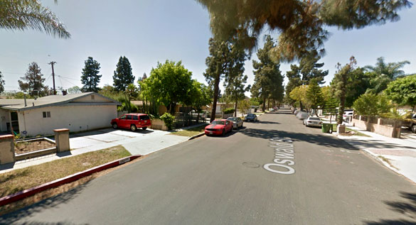 The witness claims the object could not be identified. Pictured: Sylmar, California. (Credit: Google)