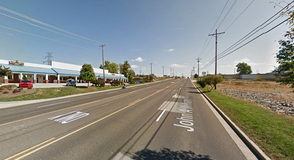 The witnesses' wife and a neighbor saw the objects too. Pictured: Bedford, IN. (Credit: Google Maps)