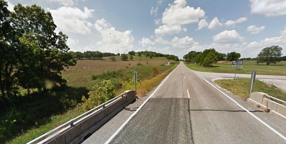 Missouri MUFON is following up on leads that more than a dozen animal mutilation have occurred in the state recently. Pictured: Wright County, MO. (Credit: Google)