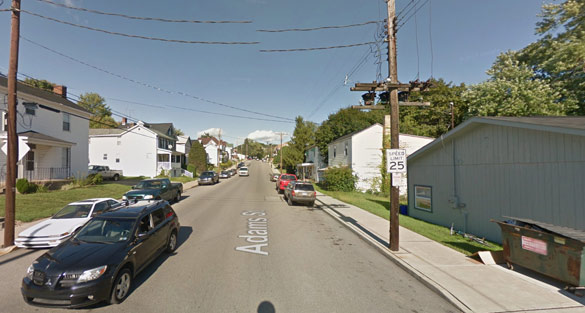 The witness watched the object for 10 minutes before it moved away. Pictured: Rochester, PA. (Credit: Google)
