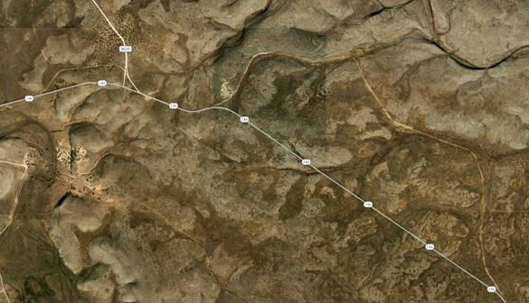 The witness was stopped along Pine Lodge Road (Route 246) about 41 miles outside of Roswell, pictured. (Credit: Google)