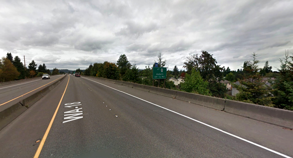 The witness said the object just disappeared. Pictured: Auburn, WA. (Credit: Google)