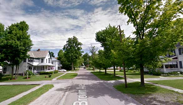 The witness reports seeing other odd objects in the area recently. Pictured: St. Albans, VT. (Credit: Google)