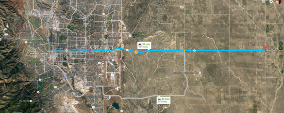 Ellicott is about 30 miles east of Colorado Springs, CO. (Credit: Google)