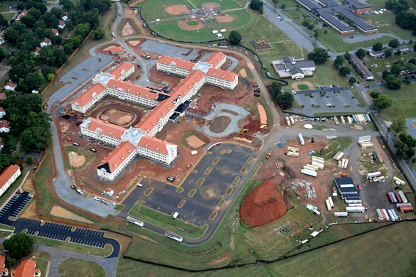 The witness believes the object may have been some type of military drone that was being tested. Pictured: Fort Benning, GA. (Credit: Google)