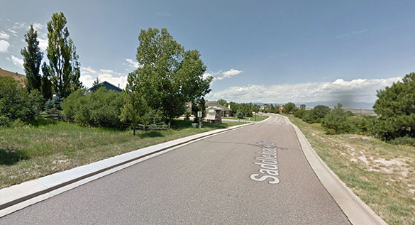 The objects crossed the sky in 15 seconds. Pictured: Castle Rock, CO. (Credit: Google)