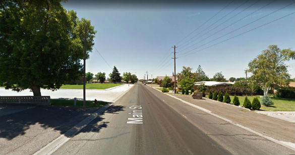 After the group of orbs joined together as one light, the light simply disappeared. Pictured: Buhi, Idaho. (Credit: Google)