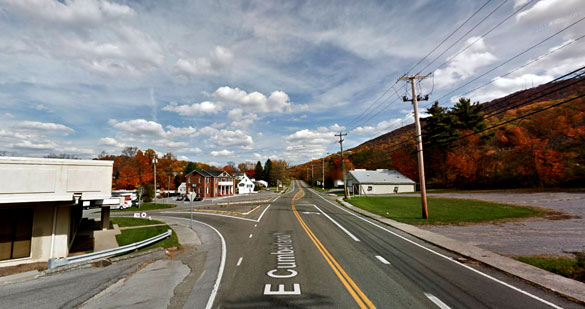 As the first object moved away after 45 minutes, a second, larger UFO was seen. Pictured: Bluefield, WV. (Credit: Google Maps)