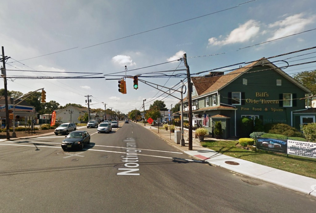 The witness is retired law enforcement and has seen meteors and other natural objects in the sky before and believes this is something different. Pictured: Mercerville, New Jersey. (Credit: Google)