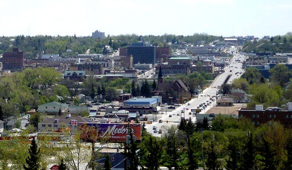 Downtown Minot, North Dakota. (Credit: Google)