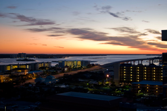The slow moving object was moving against the wind. Pictured: Orange Beach, Alabama. (Credit: Wikimedia Commons)