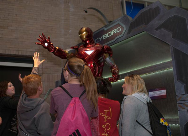 Iron Man on display. (Global Experience Specialists)