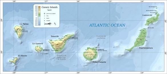 The Canary Islands (Credit: Oona Räisänen/Wikimedia Commons)