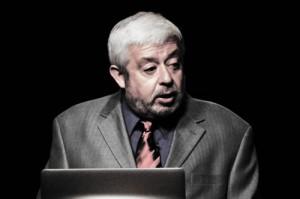 Jaime Maussan presenting at the 2013 IUFOC. (Credit: Jason McClellan)