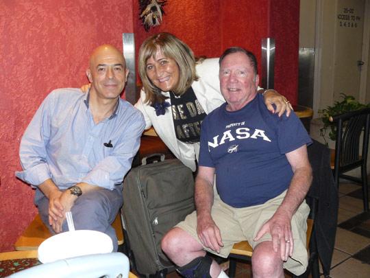 From left: Maurizio Baiata, Paola Harris, Jesse Marcel Jr.
