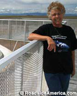 Judy Messoline, proprietor of the UFO Watchtower.