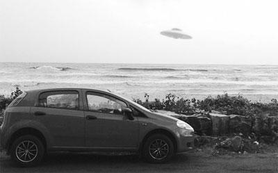 UFO photo taken by Major Sebastian Zachariah. (Credit: Major Sebastian Zachariah/The New Indian Express)