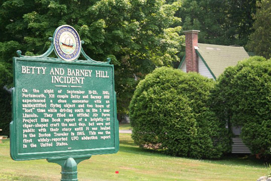 The new Betty and Barney Hill marker. (image credit: Kathleen Marden)