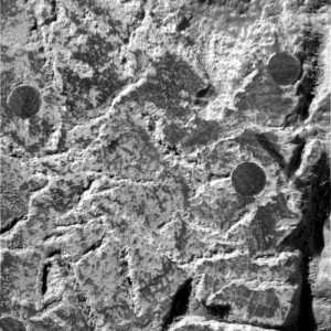 The same area after being ground down by the rover's abrasion tool. (Credit: NASA/JPL/Cornell/USGS)