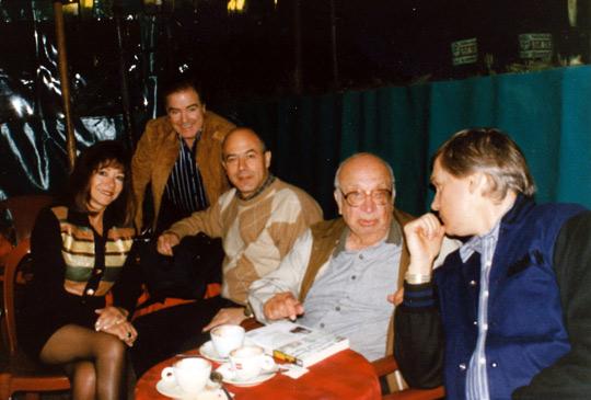 From left: Yvonne Smith, James Courant, Maurizio Baiata, Col. Corso, Michael Lindemann (credit: Baiata Collection).