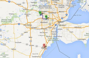 UFOs were reported in several Michigan locations on Aug. 23. (Credit: Google)