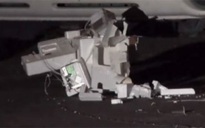 Mysterious object that crashed in Norfolk, VA. (Credit: WVEC)